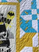 "Load image into Gallery viewer, ""Even Batman has a bedtime"" Quilt"