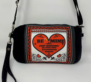 """Be Mine"" Cross Body Bag or Clutch"