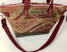 Load image into Gallery viewer, Camille Tote - Reclaimed Upholstery fabric (brown)