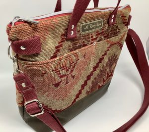 Camille Tote - Reclaimed Upholstery fabric (brown)