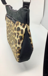 "Cross Body - ""Journey Bag"" - Leopard Print"