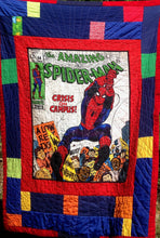 "Load image into Gallery viewer, Quilts - Custom Made - ""SPIDERMAN"" Quilt - 2 Sizes"