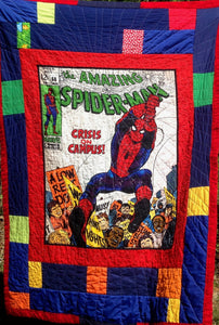 "Quilts - Custom Made - ""SPIDERMAN"" Quilt - 2 Sizes"