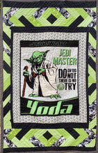 "Load image into Gallery viewer, Quilts - Custom Made - ""YODA"" Quilt - 2 Sizes"