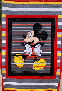 "Quilts - Custom Made - ""MICKEY MOUSE"" Quilt - 2 Sizes"