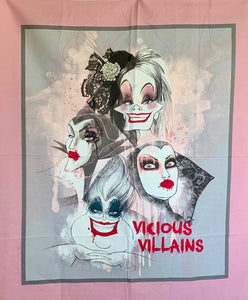 "Quilts - Custom Made - ""VICIOUS VILLAINS"" Quilt - 3 Sizes"