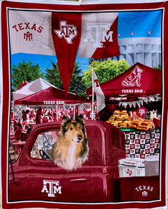 "Quilts - Custom Made - ""REVEILLE - TEXAS A&M"" Quilt - 2 Sizes"