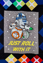 "Load image into Gallery viewer, Quilt - ""Just Roll With It/Star Wars"""