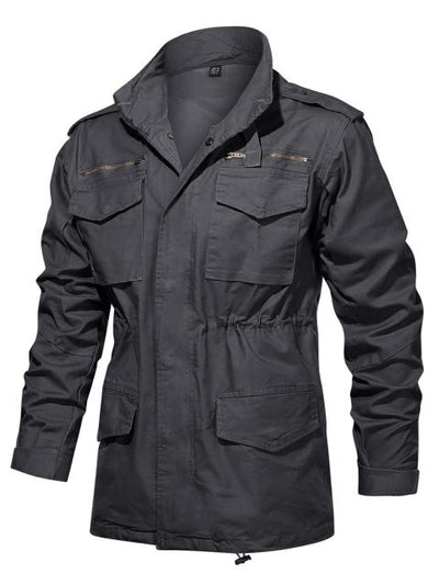Men's Military Cotton Army Field Hooded Jacket