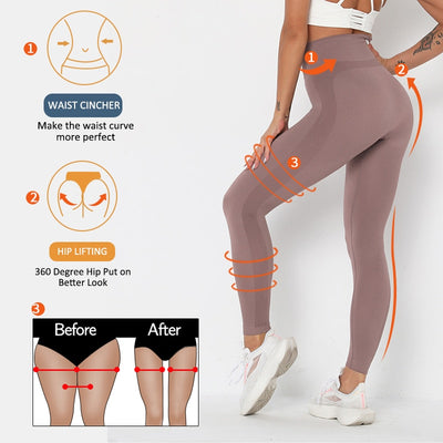 Women Fitness Solid Sport Leggings