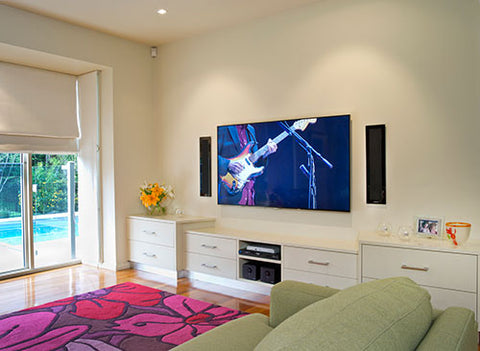 Surround sound system and speakers