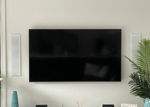beautiful in wall speakers and tv