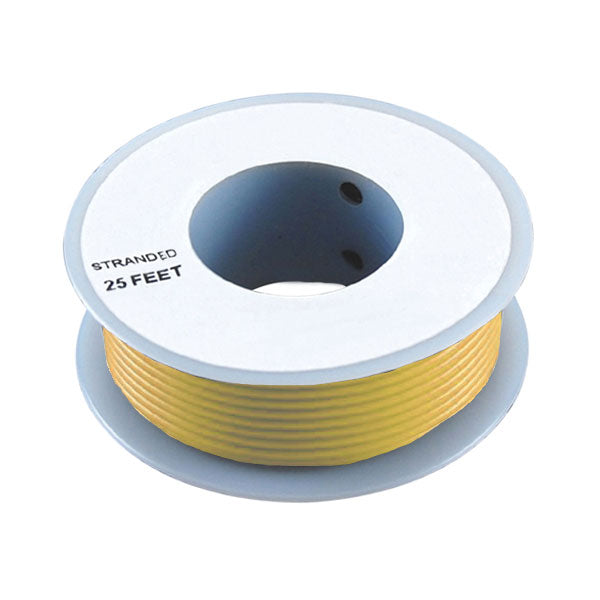 Yellow 24 Gauge Stranded Wire, 25' Spool