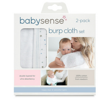 Load image into Gallery viewer, Baby Sense Burp Cloth (set of 2)