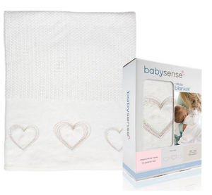 Baby Sense White Cellular Blanket