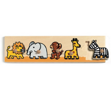 Load image into Gallery viewer, Djeco Wooden Peg Puzzle (5 pcs)
