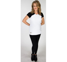Load image into Gallery viewer, Black and White Maternity Top