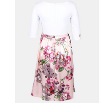 Load image into Gallery viewer, White & Pink Floral Maternity Dress