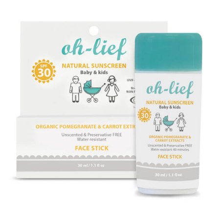 Oh-lief Natural Face SunStick – Baby & Kids