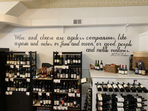 wine at cheese shop in stoughton wisconsin