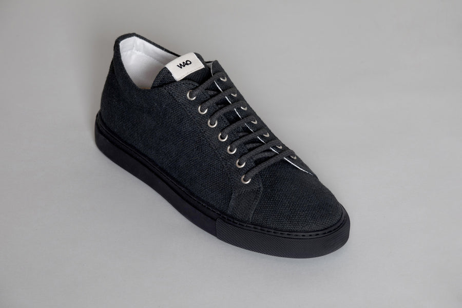 WAO LOW TOP HEMP TOTAL BLACK