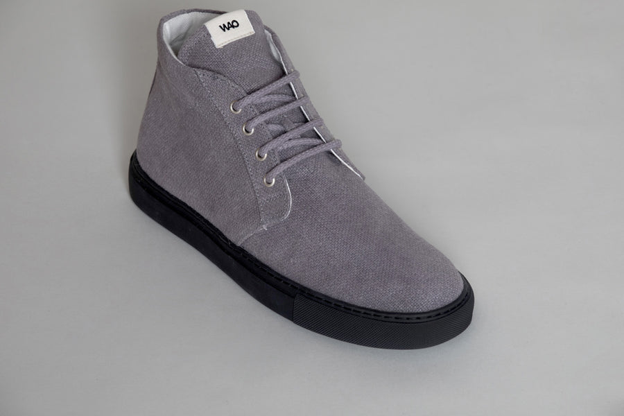 WAO MID TOP HEMP EGGPLANT AND BLACK