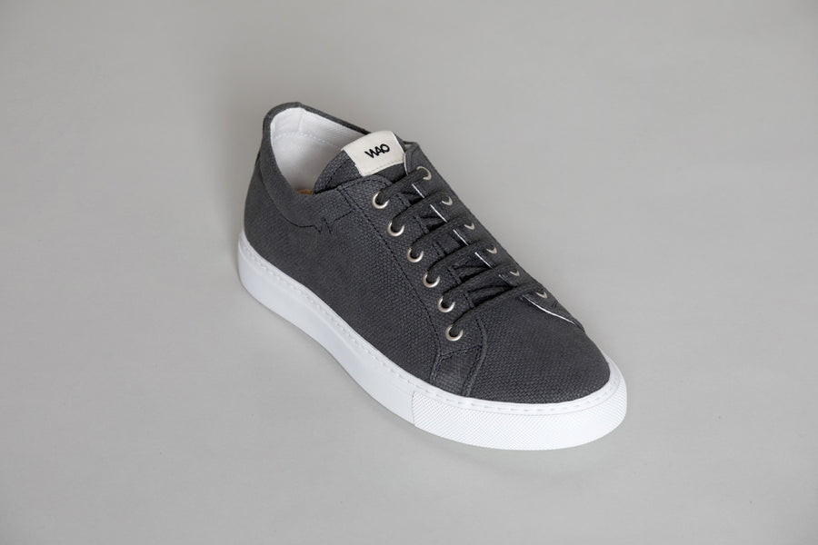 WAO LOW TOP HEMP GRAY AND WHITE
