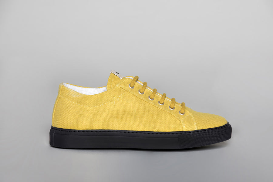 WAO LOW TOP HEMP MUSTARD AND BLACK