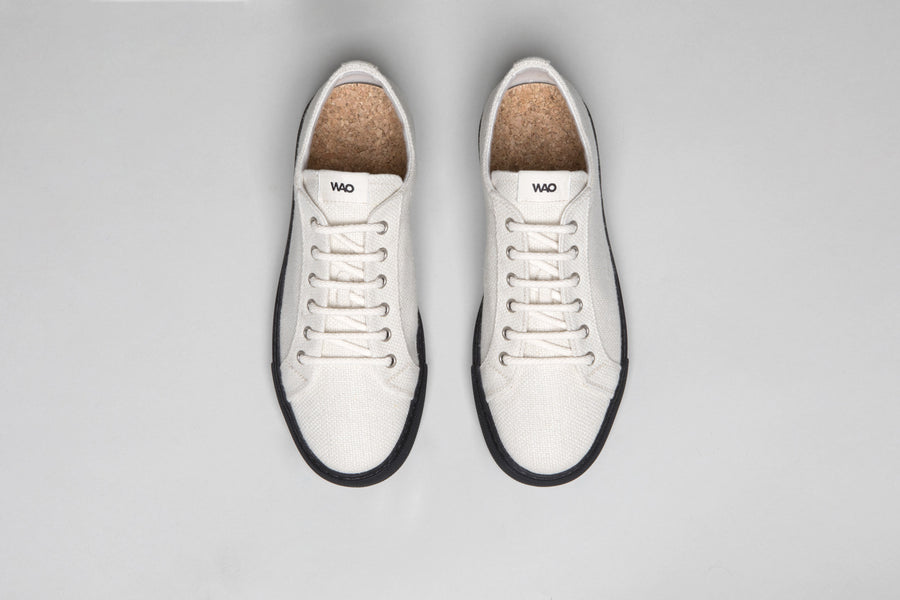 WAO LOW TOP HEMP NATURAL AND BLACK