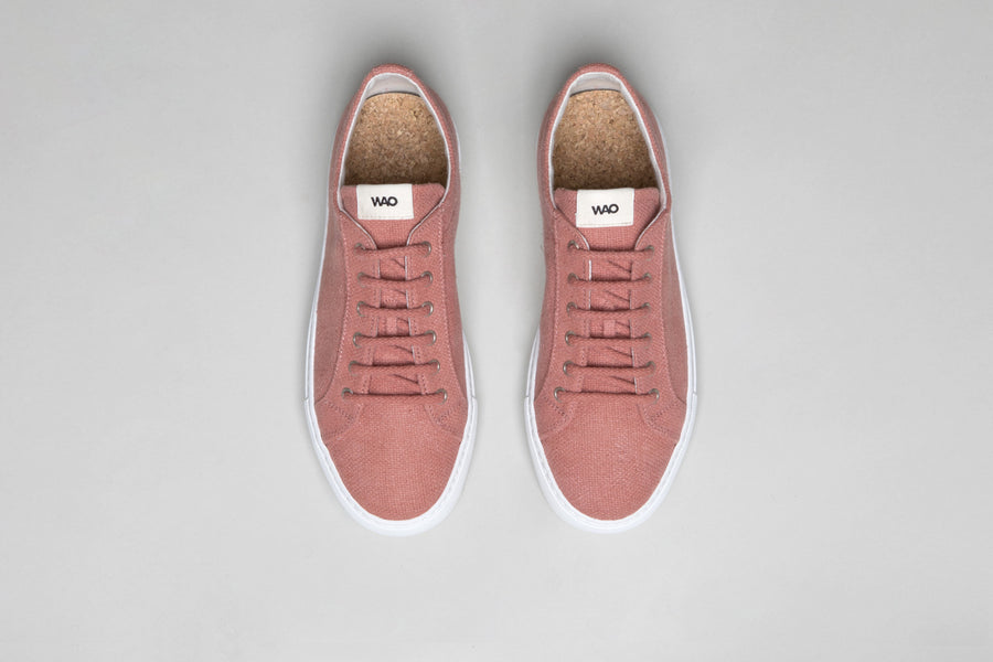 WAO LOW TOP HEMP ROSE AND WHITE