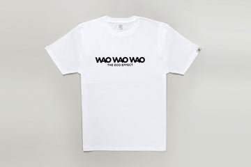 WAO T-SHIRT LOGO THE ECO EFFECT WHITE