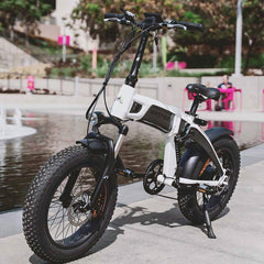 Full Suspension Folding Electric Bike Maxfoot MF-19 1000W Front