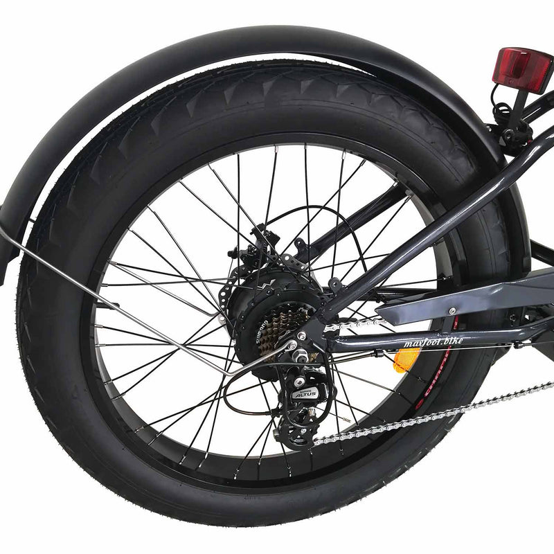 Fat Tire Electric Cruiser Bike Maxfoot MF-17 Rear Wheel