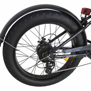 500W Fat Tire Electric Cruiser Bike Maxfoot MF-18 Rear Wheel