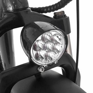 Fat Tire Electric Cruiser Bike Maxfoot MF-17 Front Light