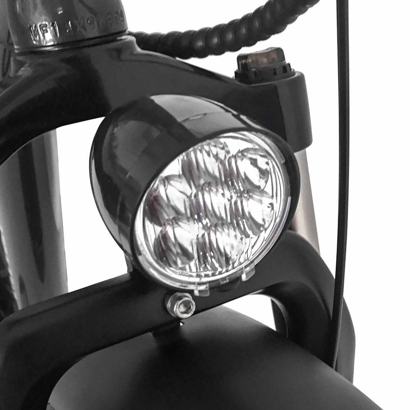 500W Fat Tire Electric Cruiser Bike Maxfoot MF-18 Head Light