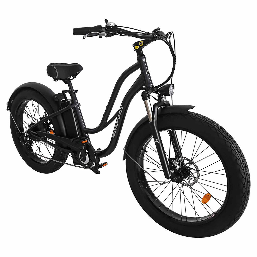MF-17 500W Step-thru Fat Electric Bike Beach Cruiser