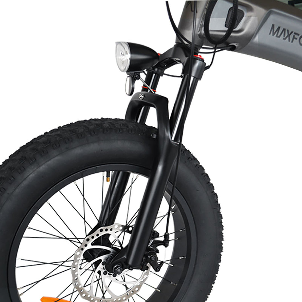 Electric Foldable Fat Bike Air Fork