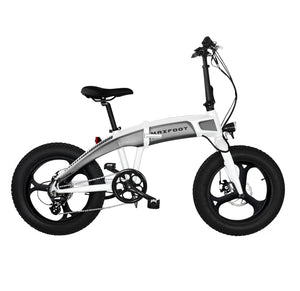 Integral Wheel Electric Folding Bike 500W Maxfoot MF-19 White