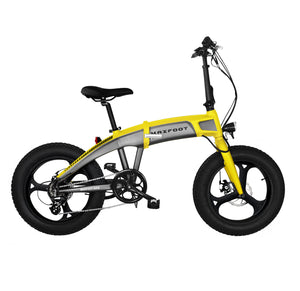 Integral Wheel Electric Folding Bike 500W Maxfoot MF-19 Yellow