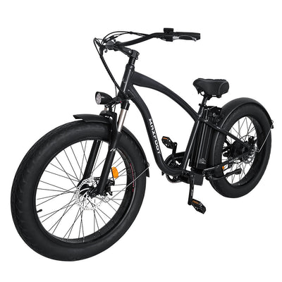 500W Fat Tire Electric Cruiser Bike Maxfoot MF-18 Left