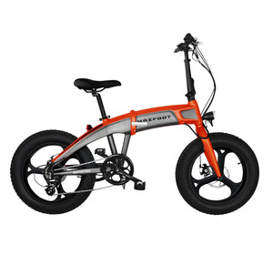 Integral Wheel Electric Folding Bike 500W Maxfoot MF-19 Orange