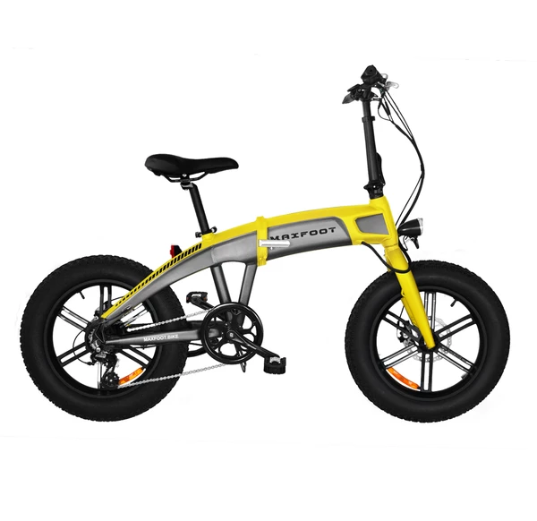 [750W] MaxFoot MF-19 750 Bafang 750W 48V*14AH Foldable Fat E-Bike 20 Inch Integral Wheel + Fenders as Free Gift