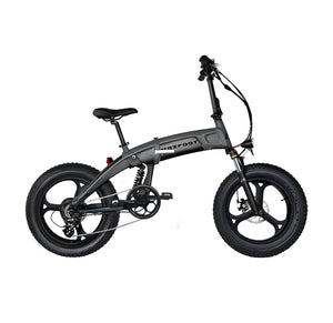Integral Wheel All Terrain Electric Folding Bike 500W Maxfoot MF-19 Grey