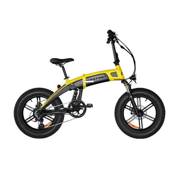 [750W] Pre-order Full Suspension MaxFoot MF-19 750P Bafang 750W 48V*14AH Foldable Fat E-Bike 20 Inch All Terrain Integral Wheel + Fenders as Free Gift