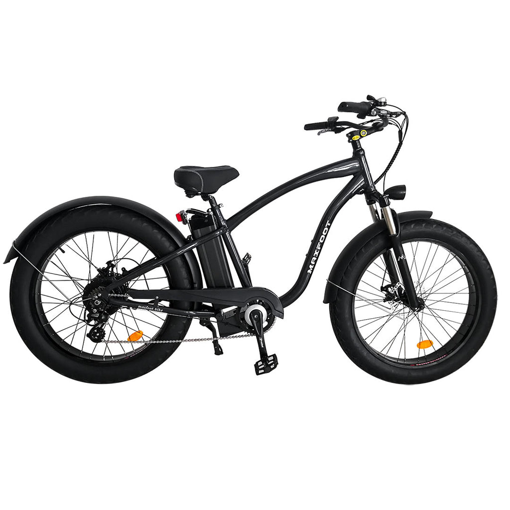 500W Fat Tire Electric Cruiser Bike Maxfoot MF-18 Right