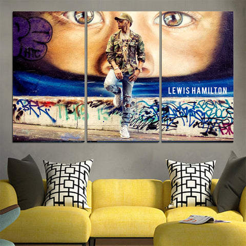 World champion Lewis Hamilton Canvas