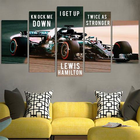Knock Me Down Lewis Hamilton Canvas
