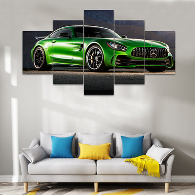 Green Mercedes-AMG GT R Sports Car Canvas