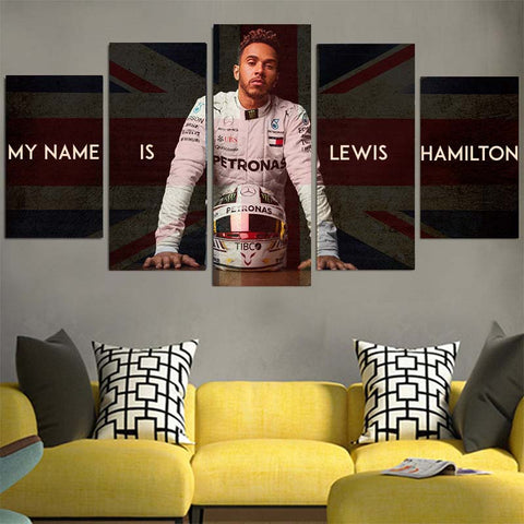 My Name Is Lewis Hamilton Canvas